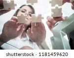 bottom view. business team...   Shutterstock . vector #1181459620