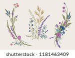 summer floral composition.... | Shutterstock .eps vector #1181463409