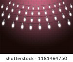 christmas lights isolated... | Shutterstock .eps vector #1181464750