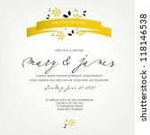 wedding card or invitation with ... | Shutterstock .eps vector #118146538