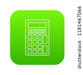 calculator icon green isolated...