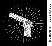 pistol. vector illustration...   Shutterstock .eps vector #1181469136