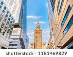 view of palace of culture and... | Shutterstock . vector #1181469829