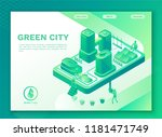 green eco city with smart... | Shutterstock .eps vector #1181471749