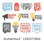 collection of quick tip badges... | Shutterstock .eps vector #1181471860