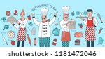 creative banner with chief ... | Shutterstock .eps vector #1181472046