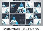 desk calendar 2019 template  ... | Shutterstock .eps vector #1181476729
