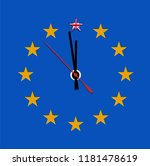 illustration with clock for... | Shutterstock .eps vector #1181478619