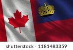 canada and liechtenstein   two... | Shutterstock . vector #1181483359
