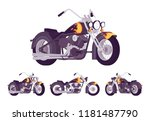 chopper custom motorcycle... | Shutterstock .eps vector #1181487790