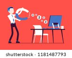 online business profit. young... | Shutterstock .eps vector #1181487793
