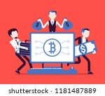 cryptocurrency wealth. young... | Shutterstock .eps vector #1181487889