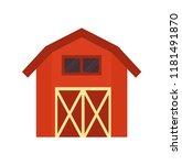 red barn wooden building ... | Shutterstock .eps vector #1181491870