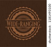 wide ranging retro wooden emblem | Shutterstock .eps vector #1181493100