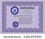 violet retro invitation. with... | Shutterstock .eps vector #1181493340