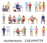 business people  males and... | Shutterstock .eps vector #1181494729