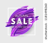 autumn sale banner up to 50 ...   Shutterstock .eps vector #1181498260