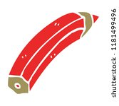 cartoon doodle colored pencil | Shutterstock . vector #1181499496