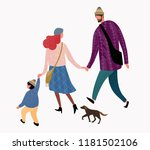 vector illustration of a happy... | Shutterstock .eps vector #1181502106