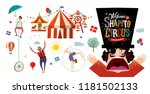 circus  vector illustration on... | Shutterstock .eps vector #1181502133