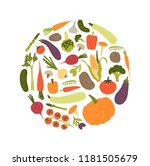 round decorative composition... | Shutterstock .eps vector #1181505679
