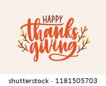 happy thanksgiving festive... | Shutterstock .eps vector #1181505703