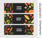 bundle of horizontal web banner ... | Shutterstock .eps vector #1181505739