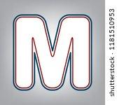 letter m sign design template... | Shutterstock .eps vector #1181510953