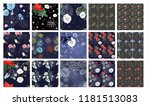 set of beautiful dark wallpaper ... | Shutterstock .eps vector #1181513083