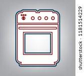 stove sign. vector. dark red ... | Shutterstock .eps vector #1181514229