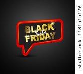 black friday sale banner  | Shutterstock .eps vector #1181515129