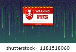 alert message of virus detected.... | Shutterstock .eps vector #1181518060
