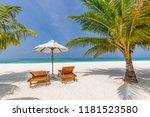 tropical beach background as... | Shutterstock . vector #1181523580