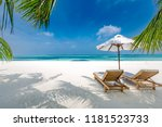 luxury beach resort  beach... | Shutterstock . vector #1181523733