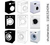 white background  set of...   Shutterstock .eps vector #1181524396