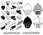 white background  set of cctv... | Shutterstock .eps vector #1181524456