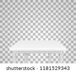 realistic table isolated on a... | Shutterstock .eps vector #1181529343