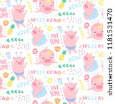 vector seamless pattern with... | Shutterstock .eps vector #1181531470