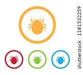 colorful spider icons with rings | Shutterstock .eps vector #1181532259