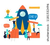 business project start up... | Shutterstock .eps vector #1181532496