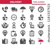 delivery icons. professional ... | Shutterstock .eps vector #1181537923
