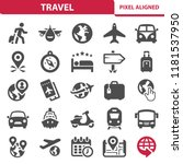 travel icons. professional ... | Shutterstock .eps vector #1181537950