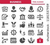 business icons. professional ... | Shutterstock .eps vector #1181537959
