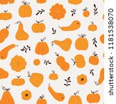 seamless pattern with hand... | Shutterstock .eps vector #1181538070