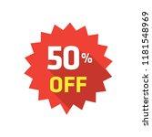 50  label discount | Shutterstock .eps vector #1181548969