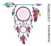 boho style arrow with dream... | Shutterstock .eps vector #1181558056
