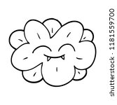 line drawing cartoon flower... | Shutterstock . vector #1181559700