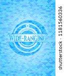 wide ranging light blue mosaic... | Shutterstock .eps vector #1181560336