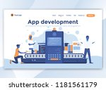 landing page template of app... | Shutterstock .eps vector #1181561179