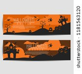 Two Halloween Banners  Isolate...